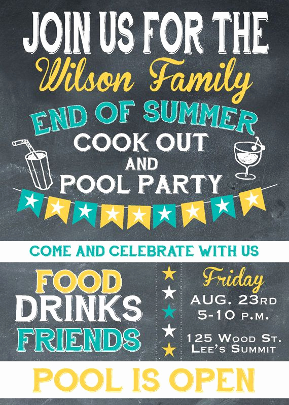 End Of Summer Party Invitation Best Of End Of Summer Party Invitation Invitation by