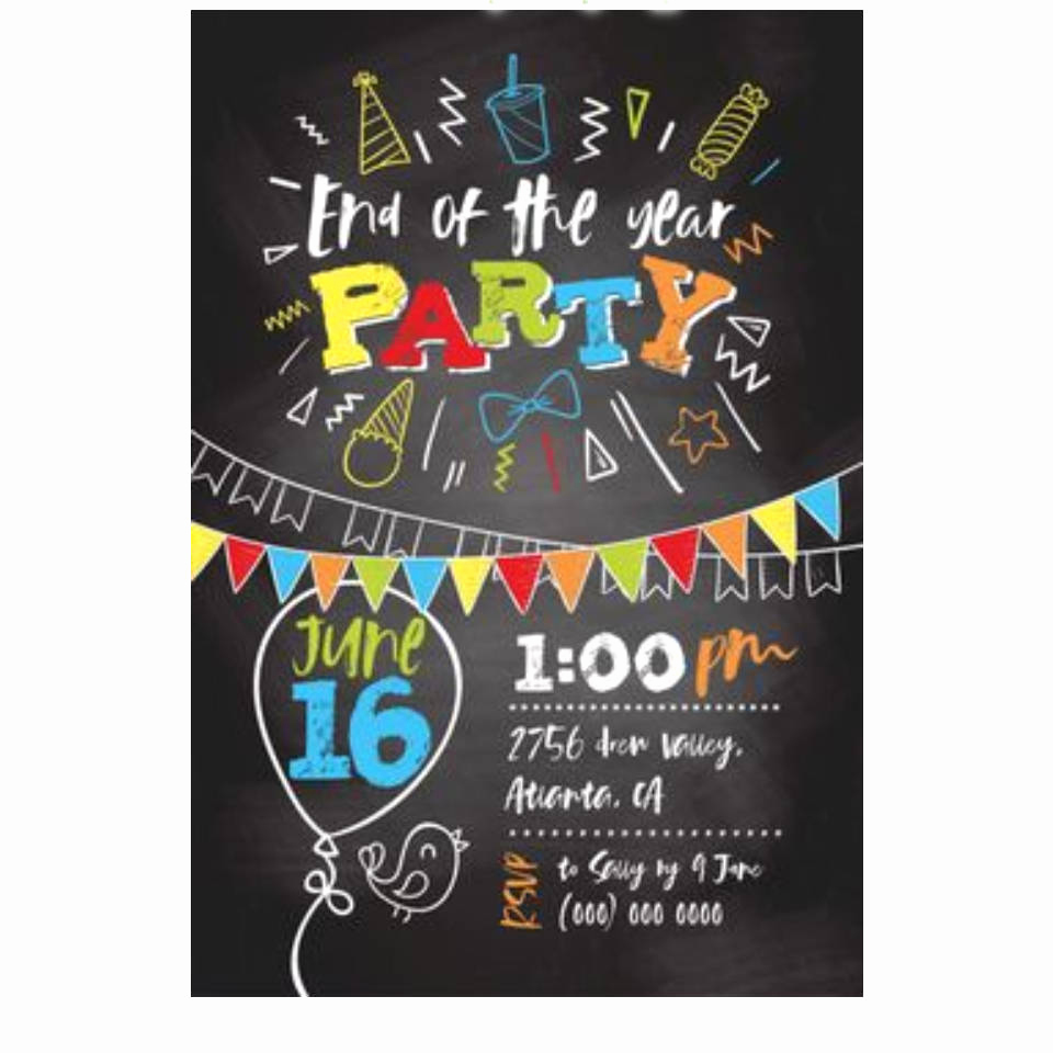 End Of Summer Party Invitation Best Of End Of the Year School Party Invitation Summer Party Invite
