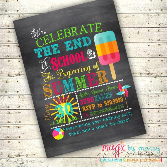 End Of Summer Party Invitation Best Of Items Similar to Digital End Of School Summer Backyard