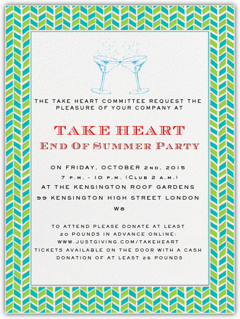 End Of Summer Party Invitation Elegant events