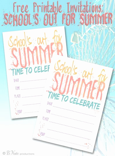 End Of Summer Party Invitation Fresh Free Printable School S Out for Summer Party Invitations