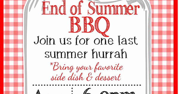 End Of Summer Party Invitation Inspirational Backyard End Of Summer Bbq Party Invitation by