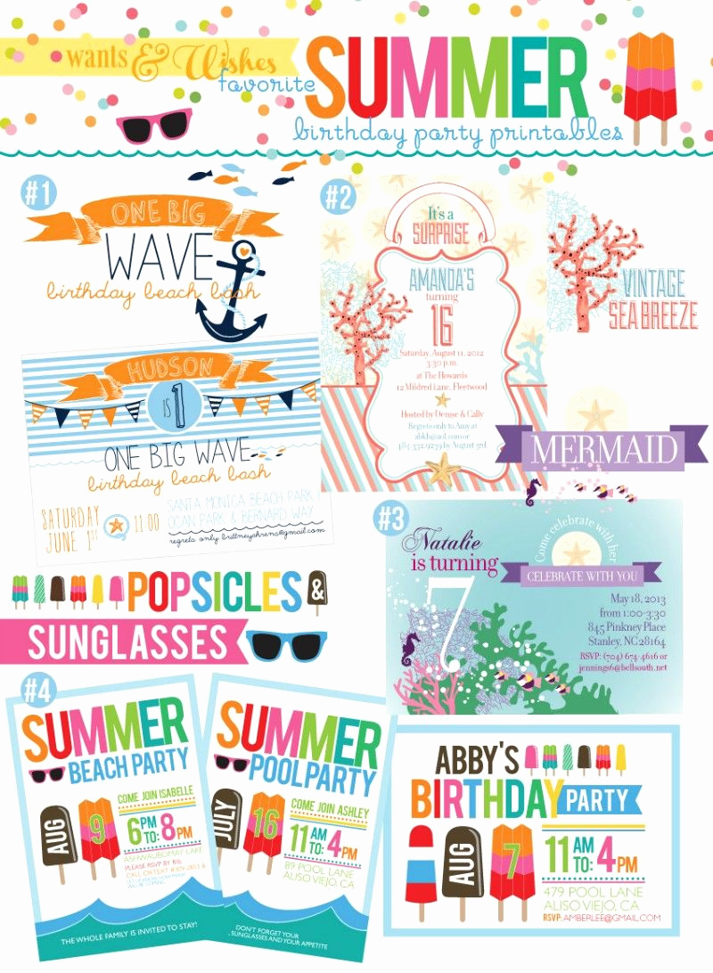 End Of Summer Party Invitation New Free Printable End Summer Party Invitations