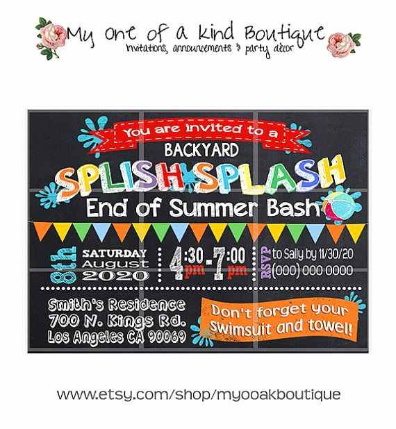 End Of Summer Party Invitation Unique 25 Best Ideas About Summer Party Invites On Pinterest