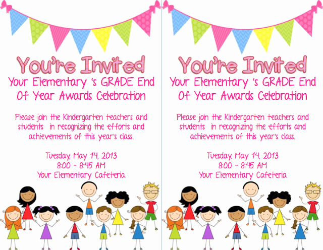 End Of Year Celebration Invitation Awesome End Of School Year Celebration Invitation