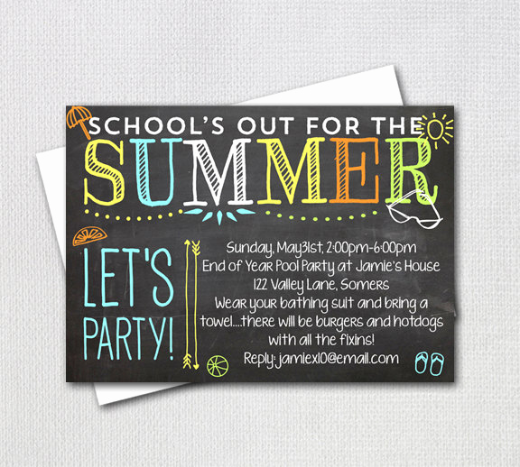 End Of Year Celebration Invitation Fresh Pool Party Invitation End Of Year Party School S Out