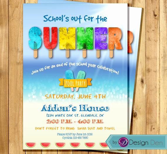 End Of Year Celebration Invitation Lovely Summer Party Invitation End Of Year Party Schools Out for