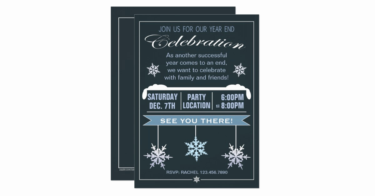 End Of Year Celebration Invitation Luxury Year End Celebration Christmas Party Invitation