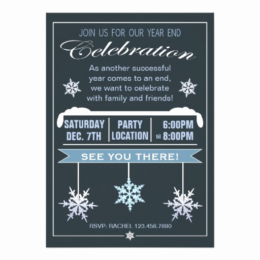 "End Of Year Celebration Invitation New Year End Celebration Christmas Party Invitation 5"" X 7"
