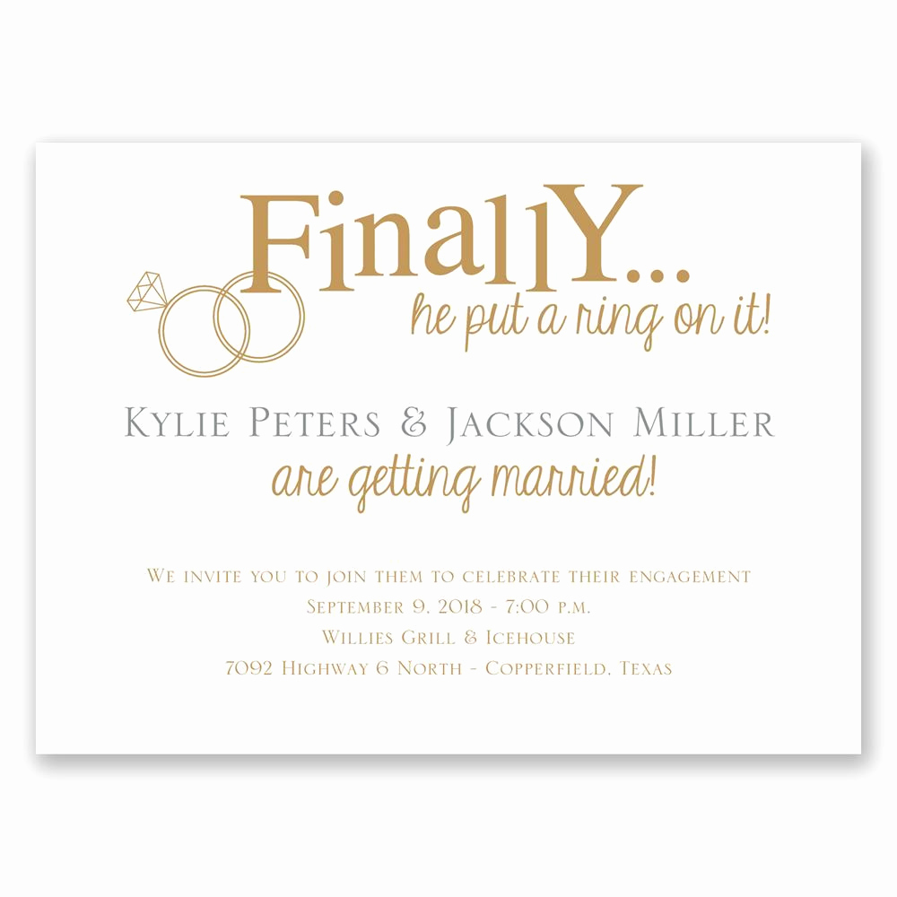 Engagement Party Invitation Templates Awesome Finally Petite Engagement Party Invitation
