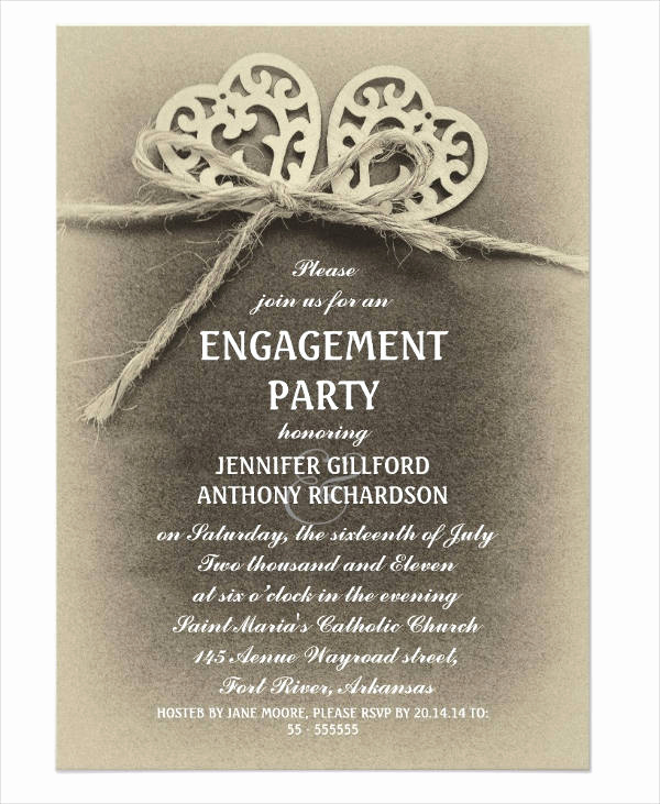 Engagement Party Invitation Templates Elegant 50 Printable Engagement Invitation Templates Psd Ai
