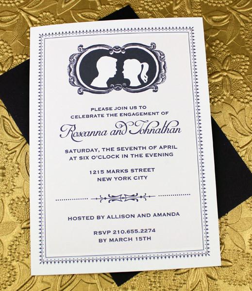 Engagement Party Invitation Templates Lovely Cameo Engagement Party Invitation Template – Download & Print