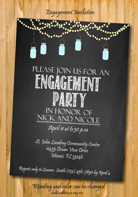Engagement Party Invitation Templates Luxury 25 Party Invitation Templates Psd Ai Word