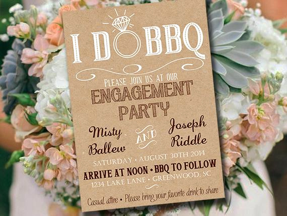 Engagement Party Invitation Templates Luxury I Do Bbq Engagement Party Invitation Template Kraft Wedding