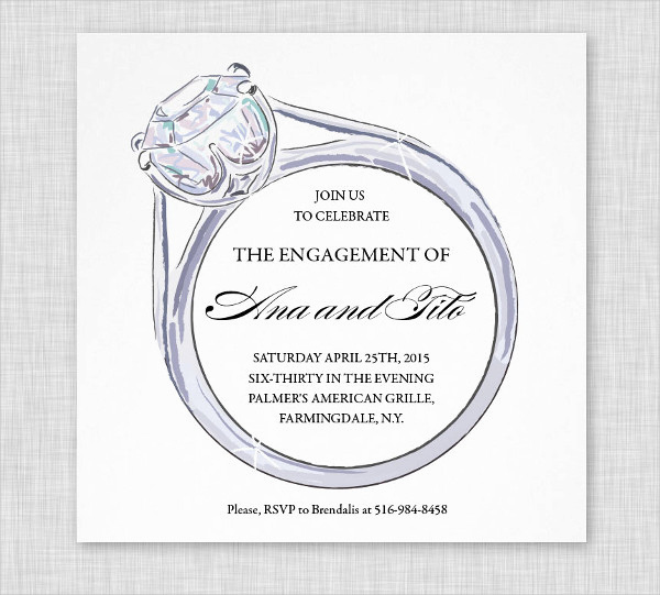 Engagement Party Invitation Templates New 12 Engagement Party Invitations Psd Word