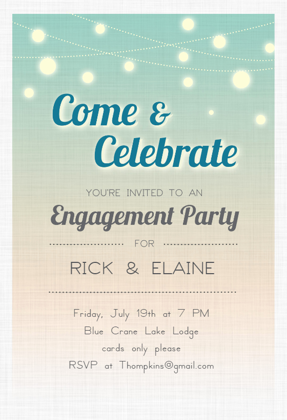 Engagement Party Invitation Templates New Celebrate Engagement Engagement Party Invitation