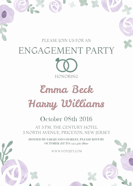 Engagement Party Invitation Templates Unique Engagement Party Invite Templates