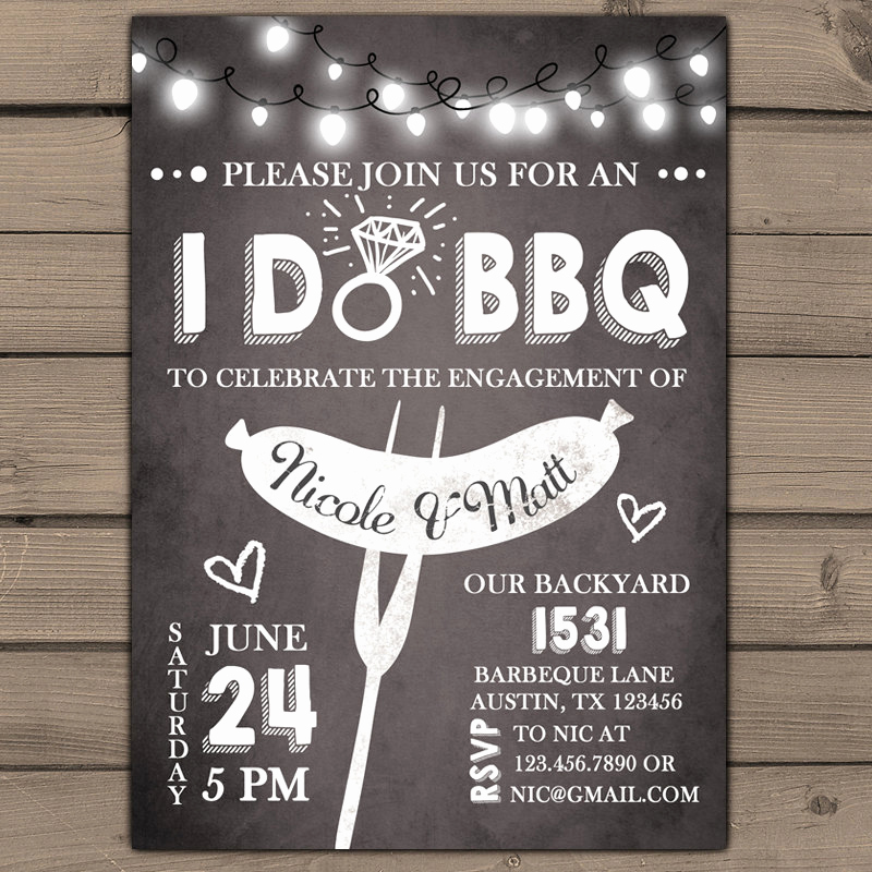 Engagement Party Invitation Templates Unique I Do Bbq Engagement Party Invitation Rehearsal Dinner
