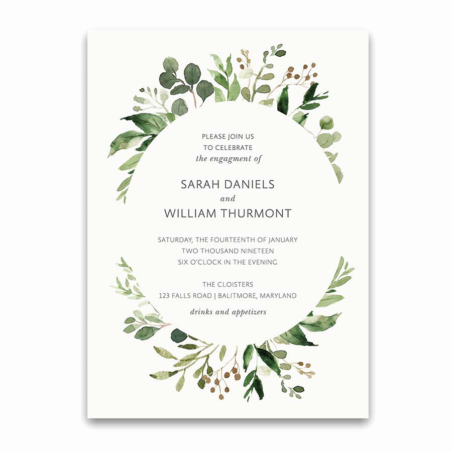 Engagment Party Invitation Wording Awesome Bohemian Wedding Invitations Boho Chic Greenery Gold