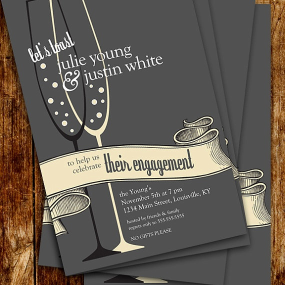 Engagment Party Invitation Wording Awesome toast to Your Engagement Party Invitations