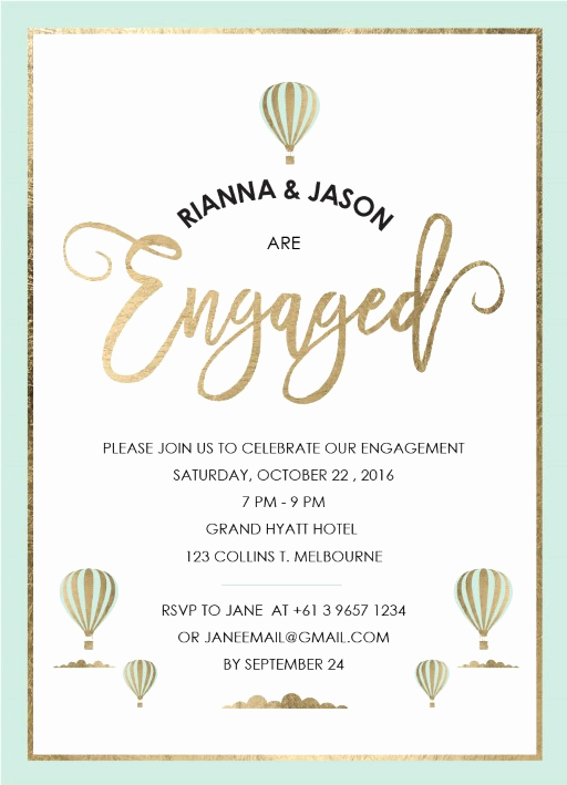 Engagment Party Invitation Wording Beautiful Engagement Party Invitations I Customise and Print Line