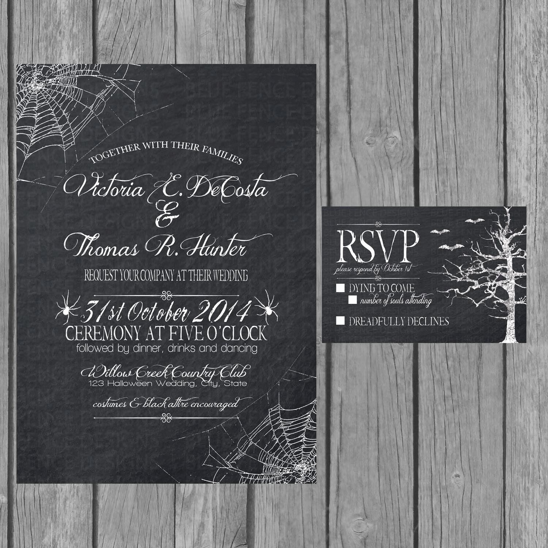 Engagment Party Invitation Wording Beautiful Halloween Wedding Invitation Chalkboard Engagement Party