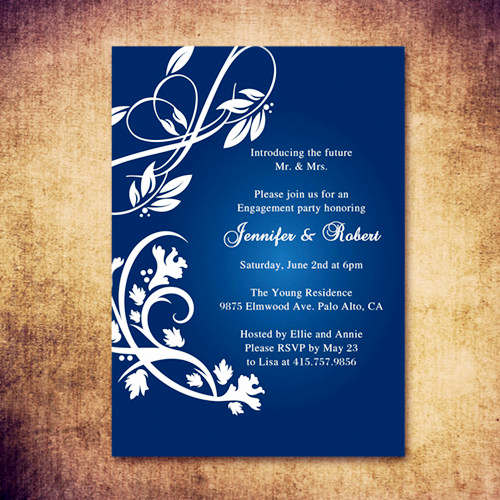 Engagment Party Invitation Wording Best Of Affordable Rustic Navy Blue Engagement Party Inviations