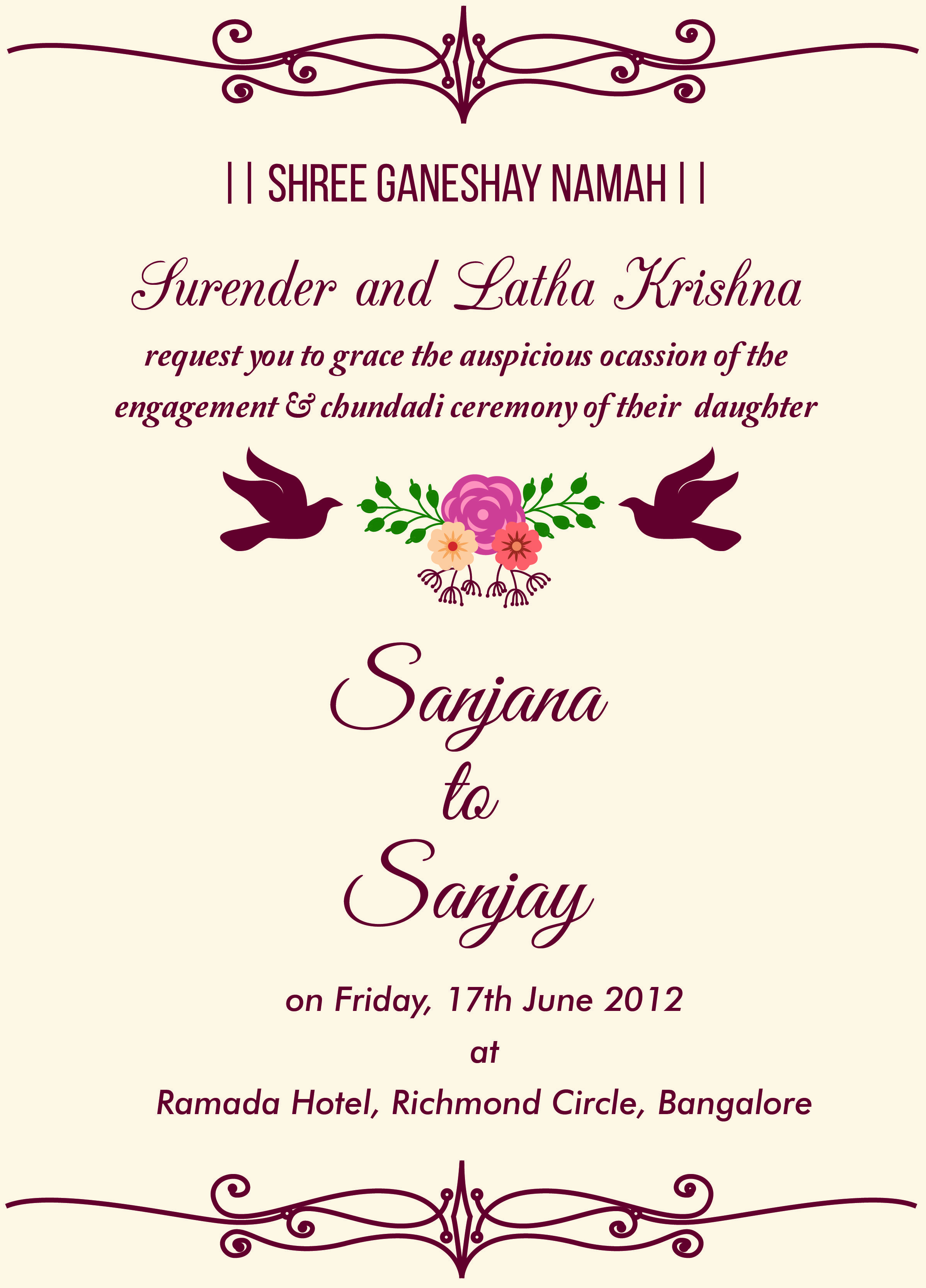 Engagment Party Invitation Wording Elegant Indian Engagement Invitation Wordings