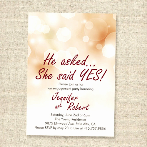 Engagment Party Invitation Wording Inspirational Affordable Shimmery Elegant Engagement Party Invitation