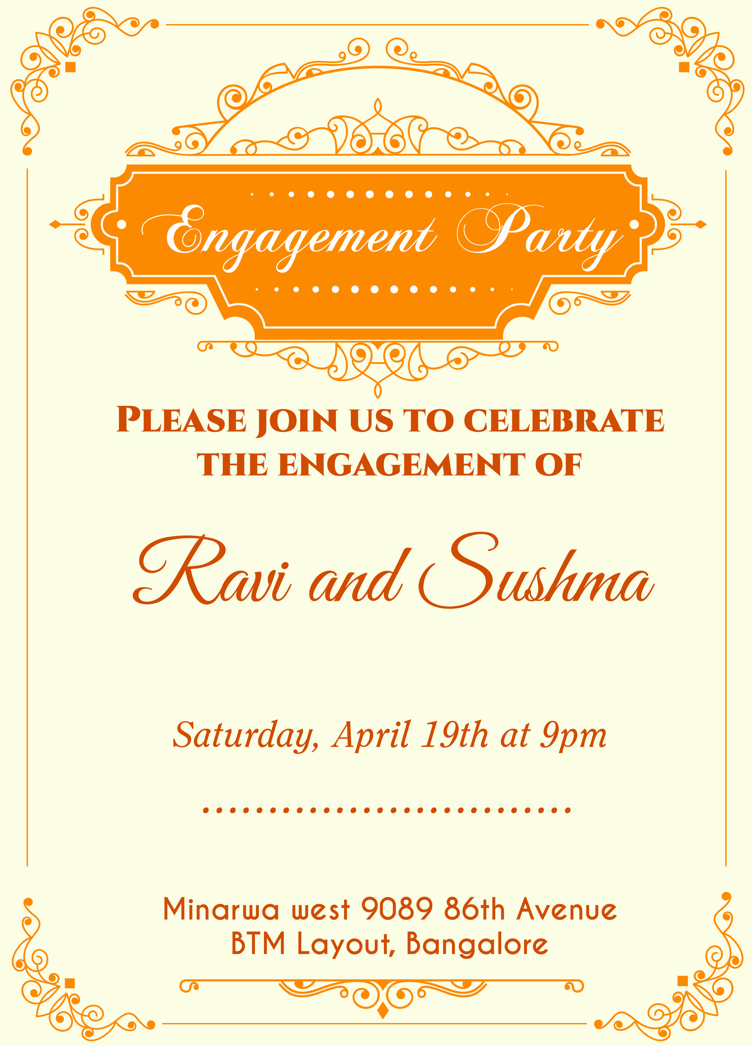 Engagment Party Invitation Wording Lovely Indian Engagement Invitation Card with Wordings Check It