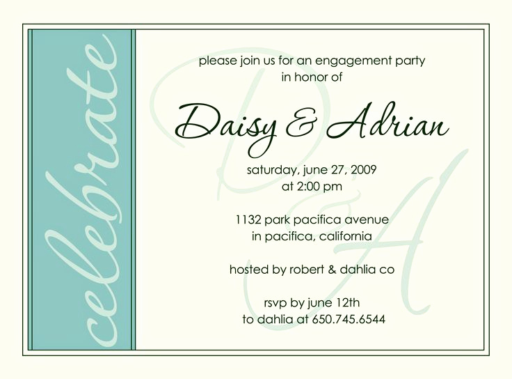 Engagment Party Invitation Wording Luxury Engagement Party Invite