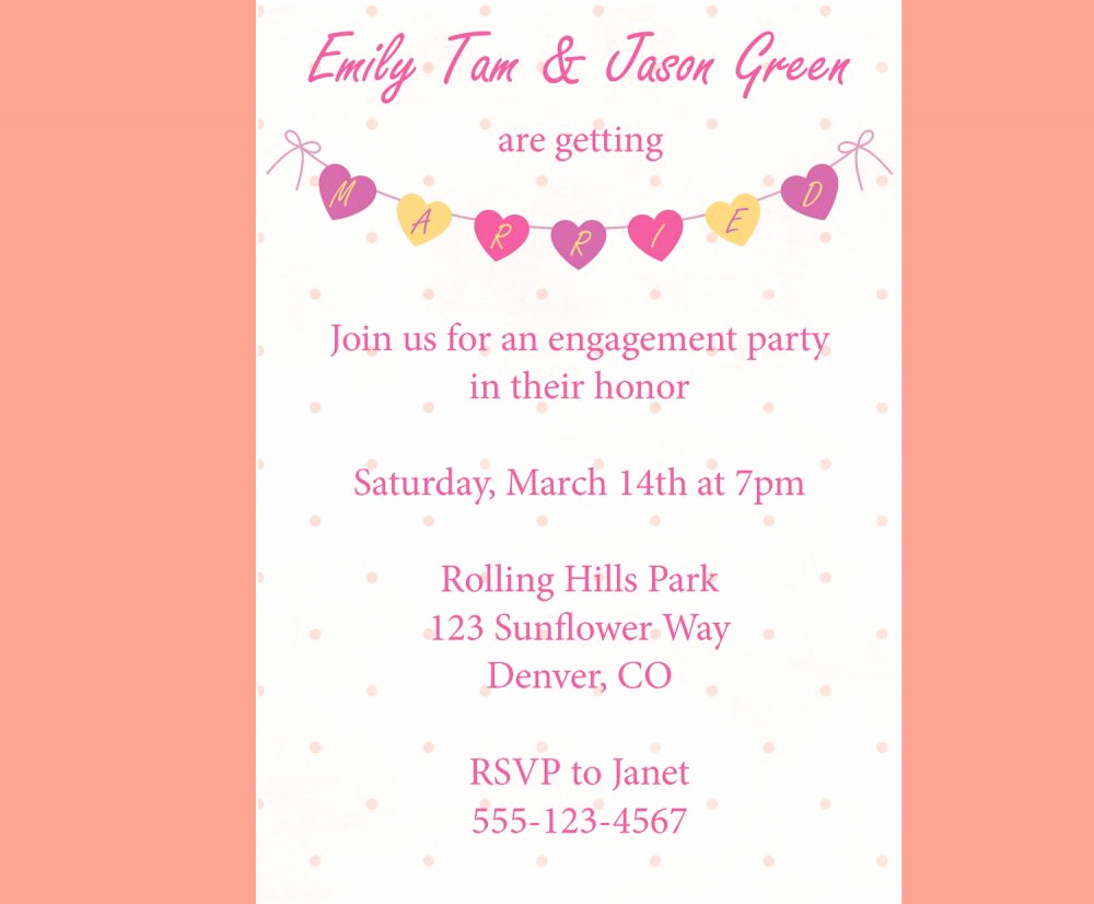 Engagment Party Invitation Wording New How to Word Engagement Party Invitations Microsoft Word