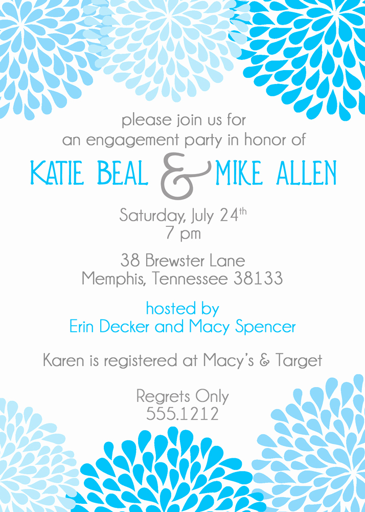 Engagment Party Invitation Wording Unique Card Template Engagement Party Invitation Card