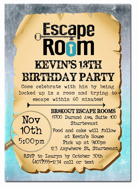 Escape Room Birthday Invitation Awesome 211 Best Kids Birthday Party Invitations Images On