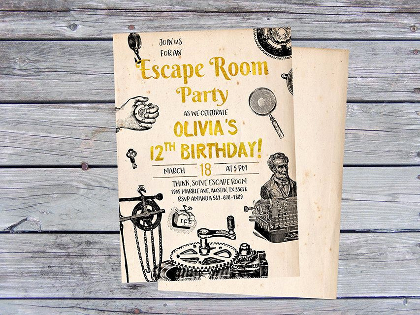 Escape Room Birthday Invitation Best Of 25 Ideas to Throw An Exciting Escape Room Party at Home