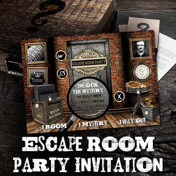 Escape Room Birthday Invitation Fresh the Printable Occasion Party Printables Boy S Winter