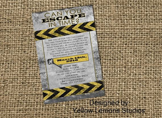 Escape Room Birthday Invitation Luxury Escape Room Digital Printable Party Invitation Mystery