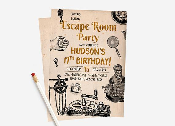 Escape Room Birthday Invitation New Escape Room Invitations Escape Room Party Escape Room