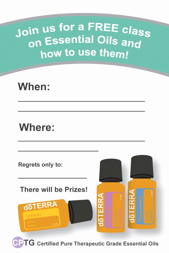 Essential Oils Class Invitation Awesome Items Similar to 4x6 Doterra Class Invitation Instant