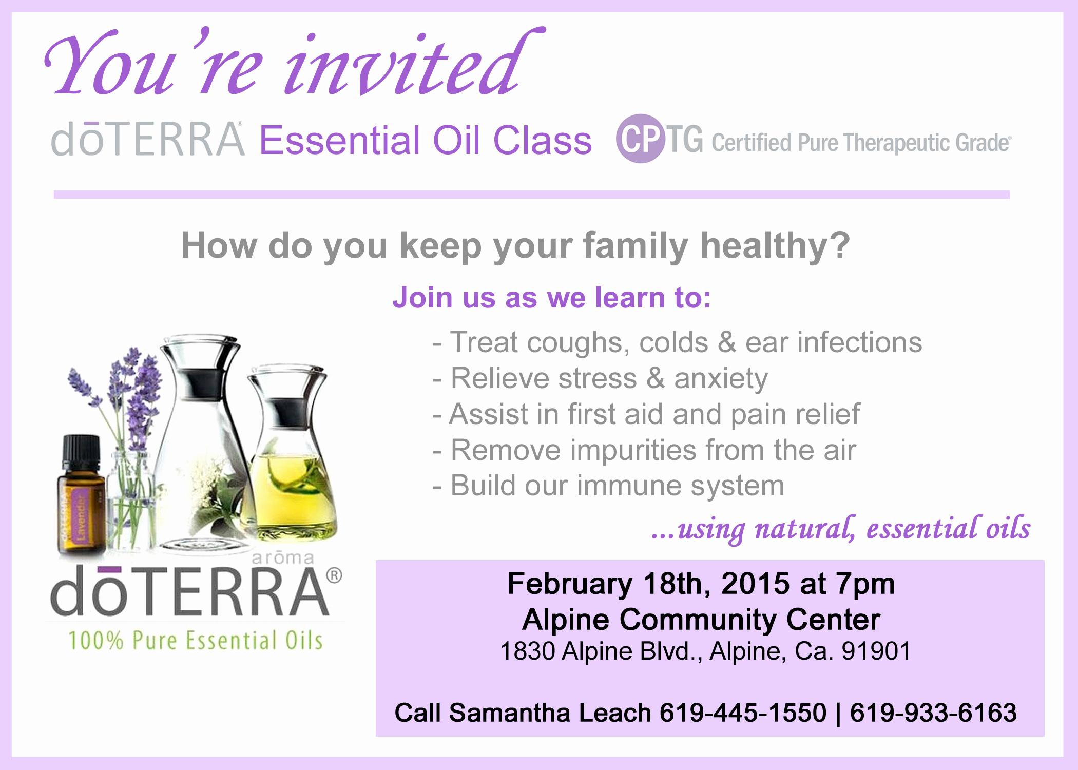 Essential Oils Class Invitation Elegant 29 Of Doterra Oil Class Invite Template Editable