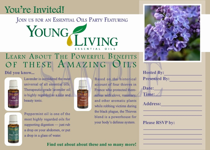 Essential Oils Class Invitation Fresh Printable Young Living Party Invitation Live Everyday
