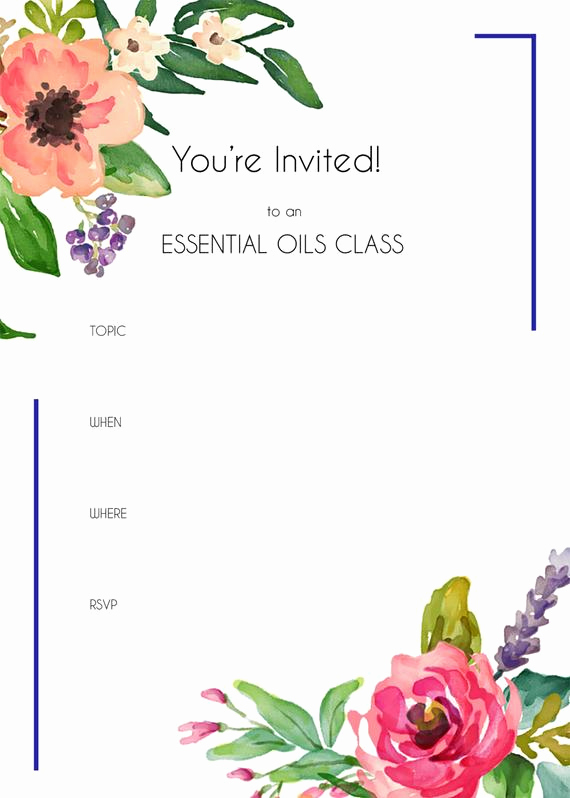 Essential Oils Class Invitation Inspirational Essential Oils Class Invitation