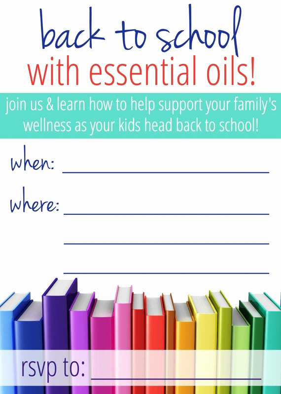 Essential Oils Class Invitation Lovely Essential Oil Class Invitation Back to School by