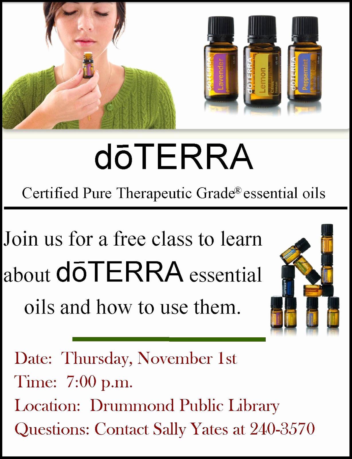 Essential Oils Class Invitation New Doterra Invitation