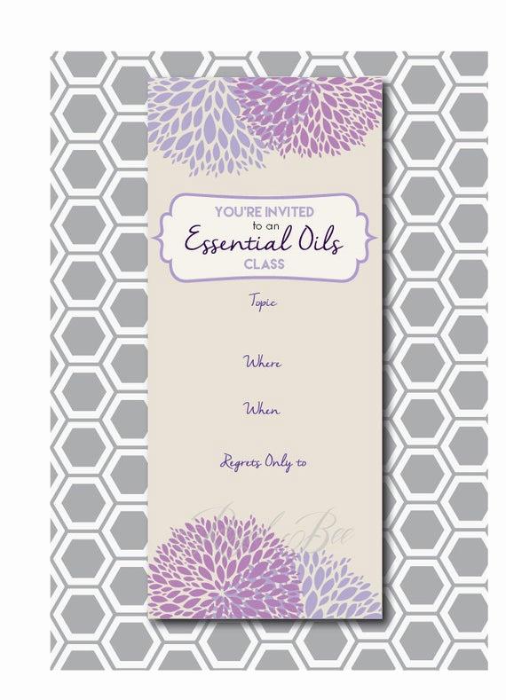Essential Oils Class Invitation Unique Items Similar to Essential Oil Class Printable Invitation