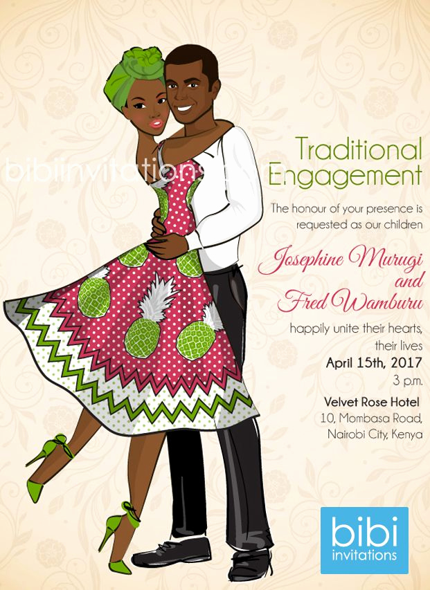 Ethiopian Wedding Invitation Card Elegant Upendo Kenyan Traditional Wedding Invitation
