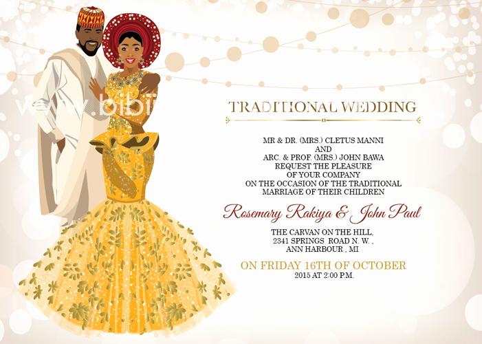 Ethiopian Wedding Invitation Card Luxury Nigerian Traditional Wedding Invitation Card