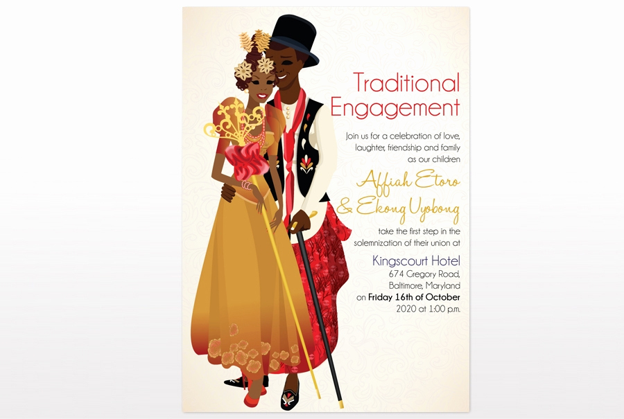 Ethiopian Wedding Invitation Card New Efik Traditional Wedding Card African Traditional Wedding