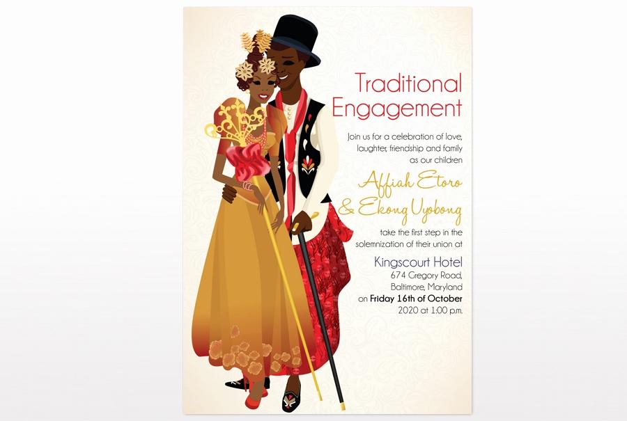 Ethiopian Wedding Invitation Cards Best Of Efik Traditional Wedding Card African Traditional Wedding
