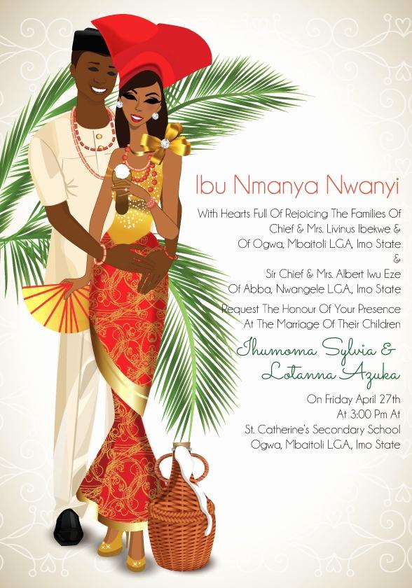 Ethiopian Wedding Invitation Cards Fresh Igba Nkwu Traditional Wedding Invitation Card